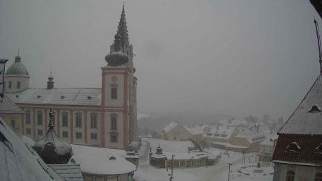 Blick auf die Basilika Mariazell